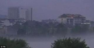 В Китае наблюдали грандиозный мираж неопознанного города (ВИДЕО)