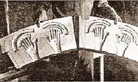 Так, судя по киноленте, выглядела панель управления «летающей тарелки», разбившейся в Розуэлле (США) в 1947 году.