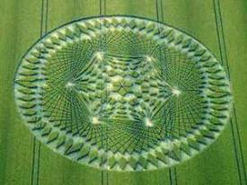 На ржаном поле в Земгале уфологи обнаружили гигантскую пиктограмму